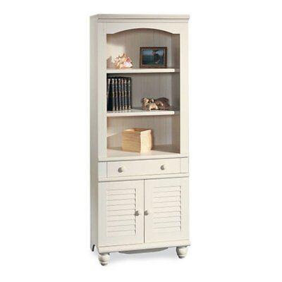 Sauder Harbor View Bookcase with Doors - Antique White