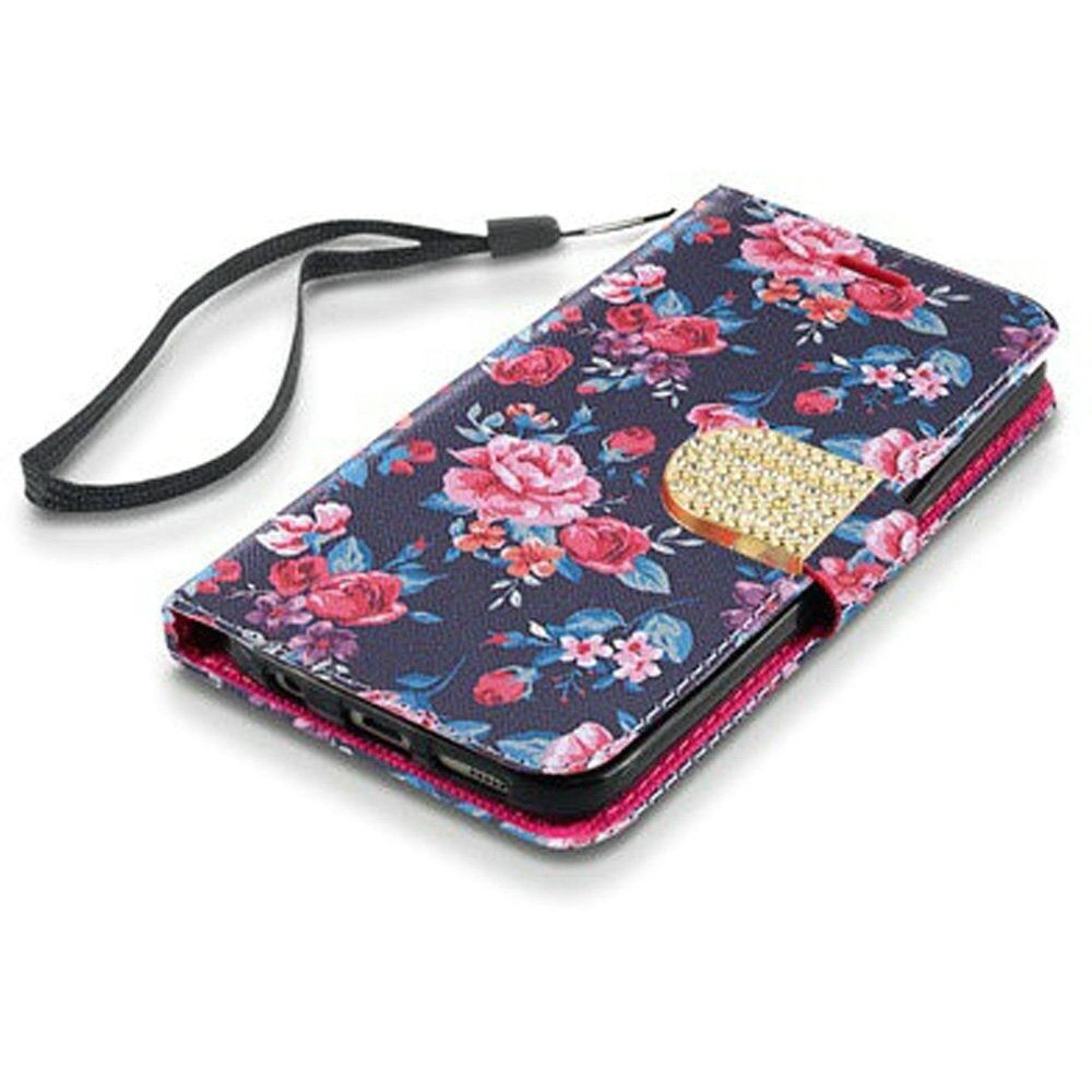 For LG Rebel 4 LML212VL / LML211BL Wallet Pouch Phone Case