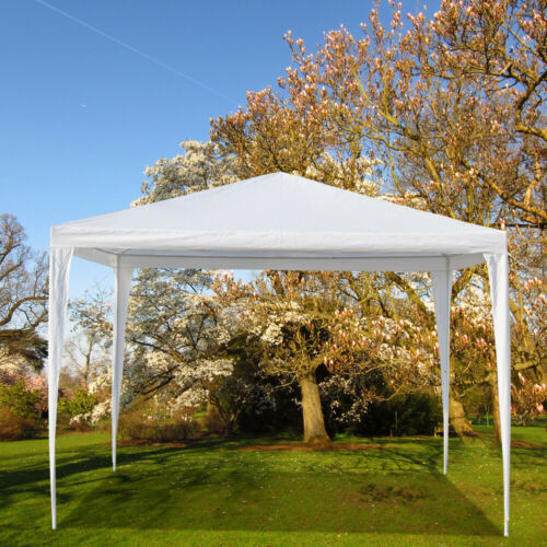 Outdoor Gazebo Canopy Wedding Party Patio Folding Tent Shelter Waterproof White  - $48.22