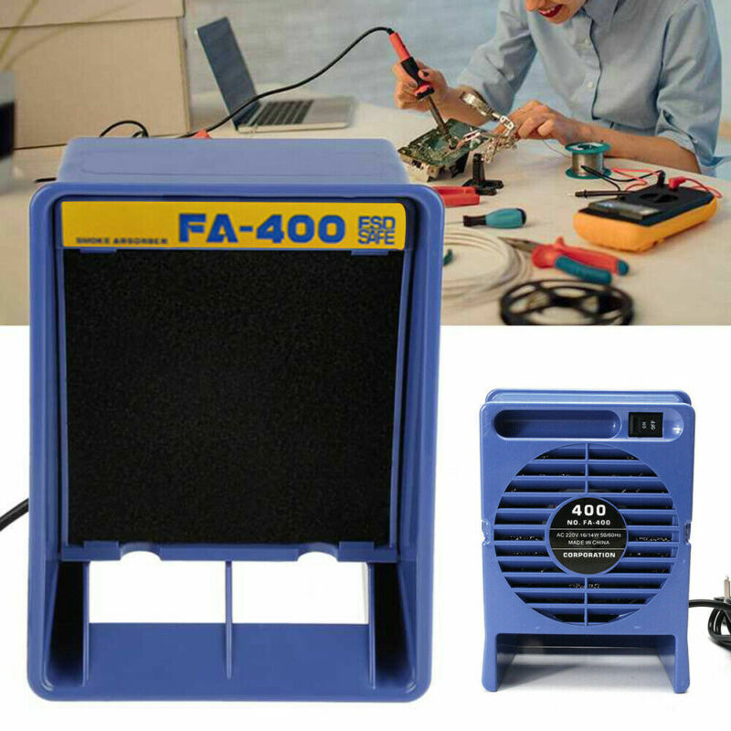 NEW AC 110V Solder Smoke Absorber Remover Air Filter Fan Remove Smoke & Fume 16W
