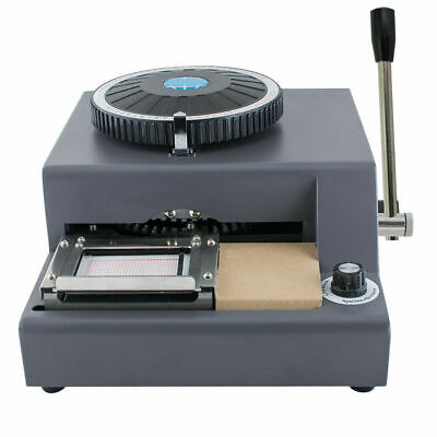 Manual 72-character Letters Embosser Credit Id Card Embossing Machinewarranty