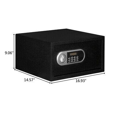17 Durable Digital Electronic Safe Box Keypad Lock Keys Home Office Hotel Cash