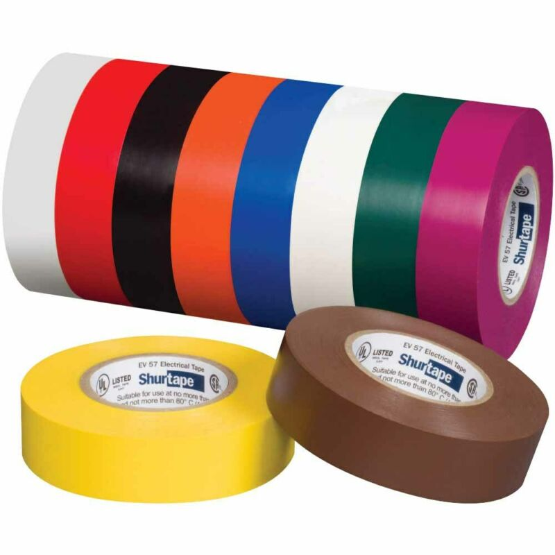 Shurtape 200786 EV 057C UL Listed Electrical Tape, Blue, 3/4in x 66ft