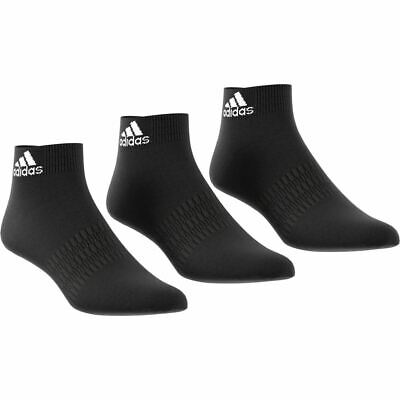 Adidas Sports Ankle Socks 3 Pairs - Unisex - Black