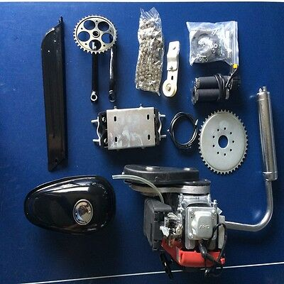 Gas Petrol Motorized Bicycle Bike Engine Motor DIY Kit 4-Stroke 49CC Scooter