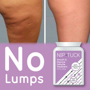 NIP & TUCK SMOOTH & IMPROVE ANTI-CELLULITE PILLS SILKY SMOOTH SKIN BURNS FAT