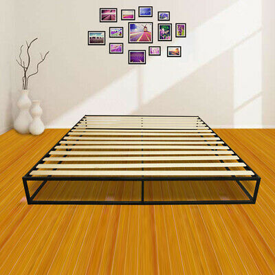 US Home Hotel Simple Basic Iron Bed King Size Metal Platform Bed Frame (Hotel Metal)