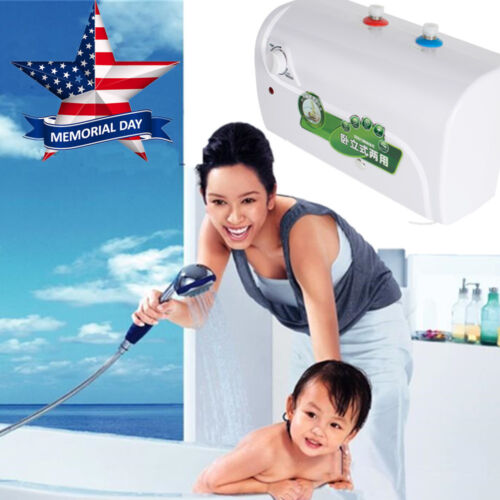 8L Tank Electric Hot Water Heater For Home Bathroom Kitchen