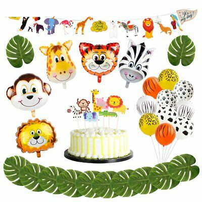 Safari Jungle Theme Birthday Children Party Decorations Animal Balloons Kids DYI - Jungle Birthday Party