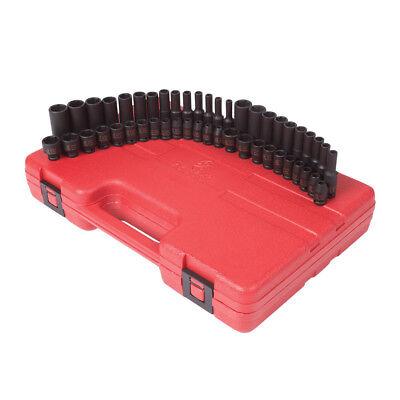 Sunex Tools 48pc 14 Drive Saemetric Impact Socket Set 1848 New