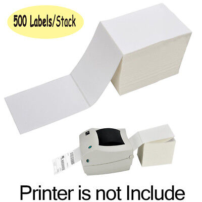 1 Stack 500 Fanfold 4 X 6 Direct Thermal Blank Shipping Labels For Zebra 2844