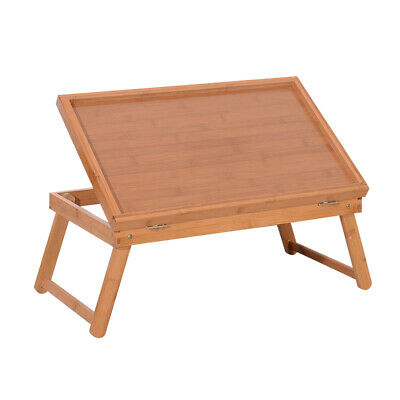 Wood Color Breakfast Bed Tray Lap Desk Serving Table Foldable Legs Food Dinner](Breakfast Bed Tray)