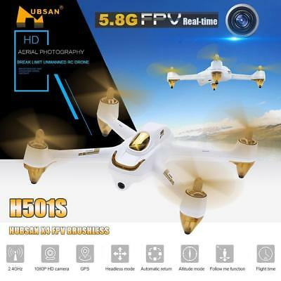Hubsan H501S S X4 FPV Drone Brushless 1080P Quadcopter without Controller, BNF