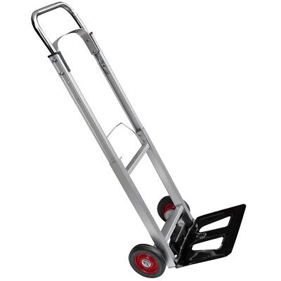 Folding Hand Truck Lightweight Aluminium Alloy Heavy Duty Sack Cart 90kg UKES