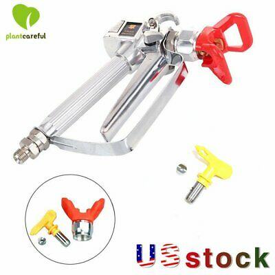 New 3600 Psi Airless Paint Spray Gun With 517 Tip Guard For Sprayers Us