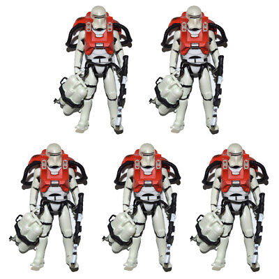 "Lot of 5 Star Wars Force Awakens Armor Up Flametrooper 3.75"" Loose Action Figure"