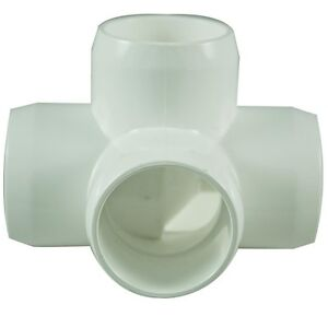 4 Way 25mm PVC Pipe, Cage Fittings, & Connectors for Furniture & Projects