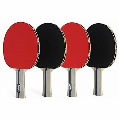 Duplex Ping Pong Paddle Set Of 4 - Best Professional Table Tennis Racket