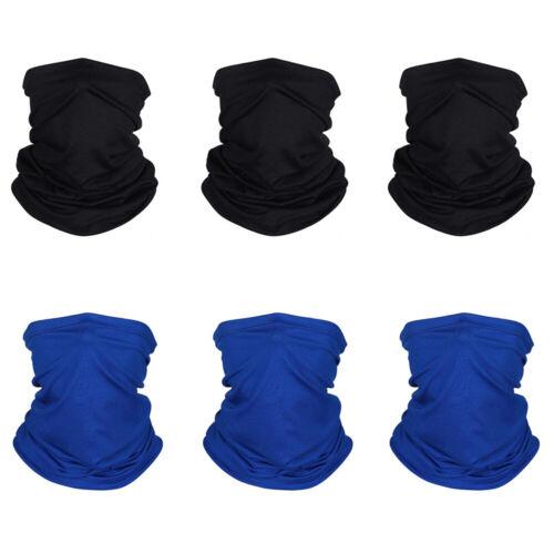 Face Mask Gaiter Biker Scarf Tube Bandana Beanie Cover Cap Headwrap 6PCS