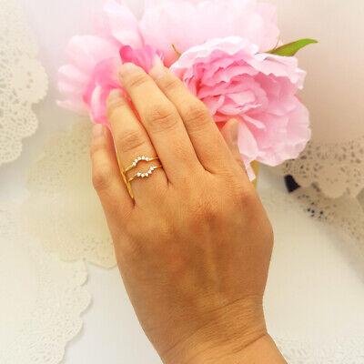 0.45 Ctw Elegant Wedding Enhancer Guard Ring Round Diamond 14k Yellow Gold -