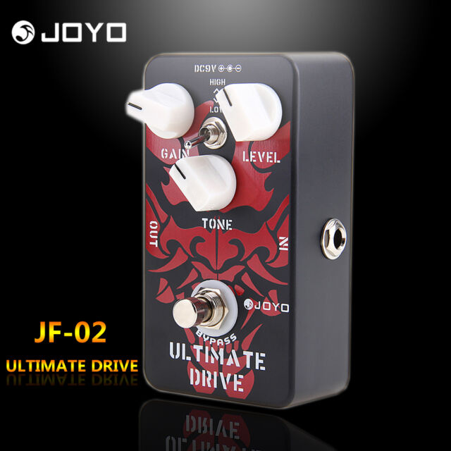 Joyo JF-02 Ultimate Drive Overdrive Electric Guitar Effect Pedal Black Red