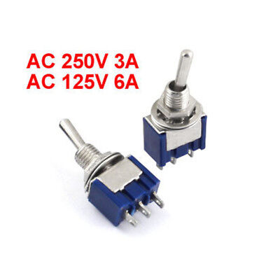 1x Mts-103 On-off-on 3 Position Mini Latching Toggle Switch Ac 125v6a 250v3a