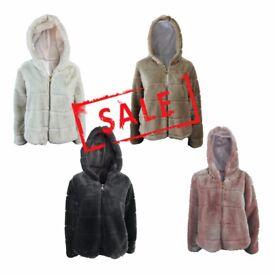 FREE DELIVERY AMAVISSE UK -NEW Fashion Women Clothes Winter Long Faux Acrylic Fur Fleece Coat Jacket