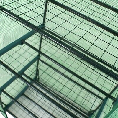 2PCS 4 Tier Mini Greenhouse Waterproof Portable with PE Cover and Roll-Up Zipper Garden Structures & Shade