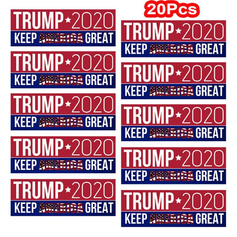 20Pcs Donald Trump Keep America Great Car Bumper Stickers President 2020 Hot! hi
