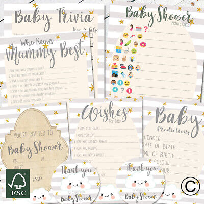 Best Baby Shower Invitations (Baby Shower Games Prediction Cards Who Knows Mum Best Invites Stickers New Mum)