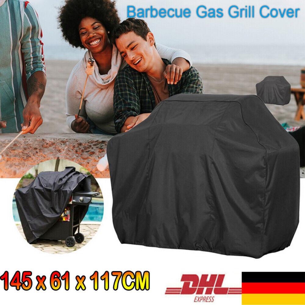 145 cm Grillabdeckung BBQ Grill Abdeckhaube Gasgrill Schutzhülle Regenschutz DHL