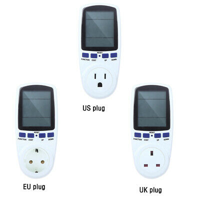 Lcd Power Consumption Energy Watt Amps Volt Meter Electricity Monitor Analyzer