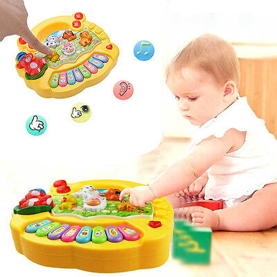 $6.99 - Baby Kids Musical Educational Animal Farm Piano Developmental Music Toy Gift US
