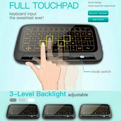 Backlit Touchpad Keyboard Air Mouse Keypad Remote for Android Smart TV Media (Wireless Keyboard With Touchpad For Samsung Smart Tv)