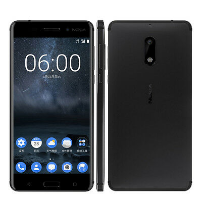 Unlocked Nokia 6 Octa Core Android 4G RAM 32G ROM Dual Sim 5.5'' 16MP Smartphone