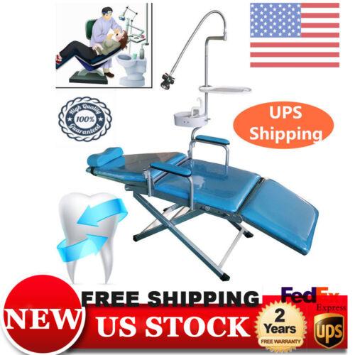 Folding Dental Lab Portable Chair + Dental Tray + Flushing Water supply + LED