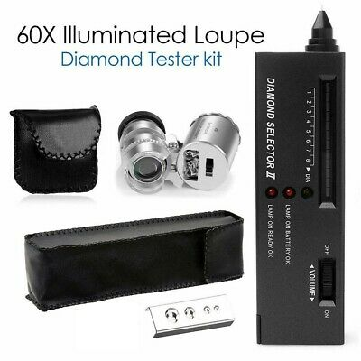 Pro Diamond Jeweler Tool Kit Portable Gemstone Testing Gold Tester Selector Led