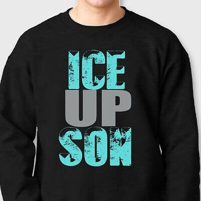ICE UP SON Carolina Panthers Funny T-shirt Steve Smith Quote Crew Sweatshirt - Carolina Panthers Funny