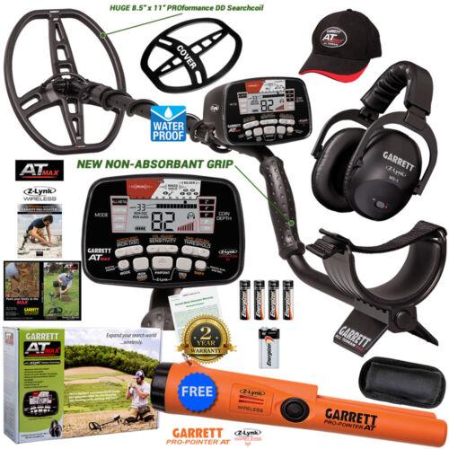Garrett AT MAX Metal Detector, Wireless Headphones, Hat, Cover + Free Propointer