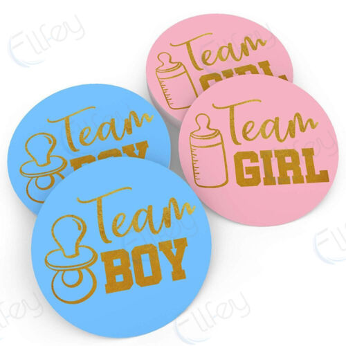 High Quality Gender Reveal Stickers Team Boy Team Girl Baby Shower 80 Stickers