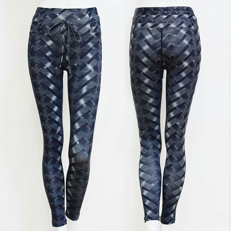 Sport Womens Compression Fitness Leggings Running Yoga Gym Scrunch Pants Workout 17