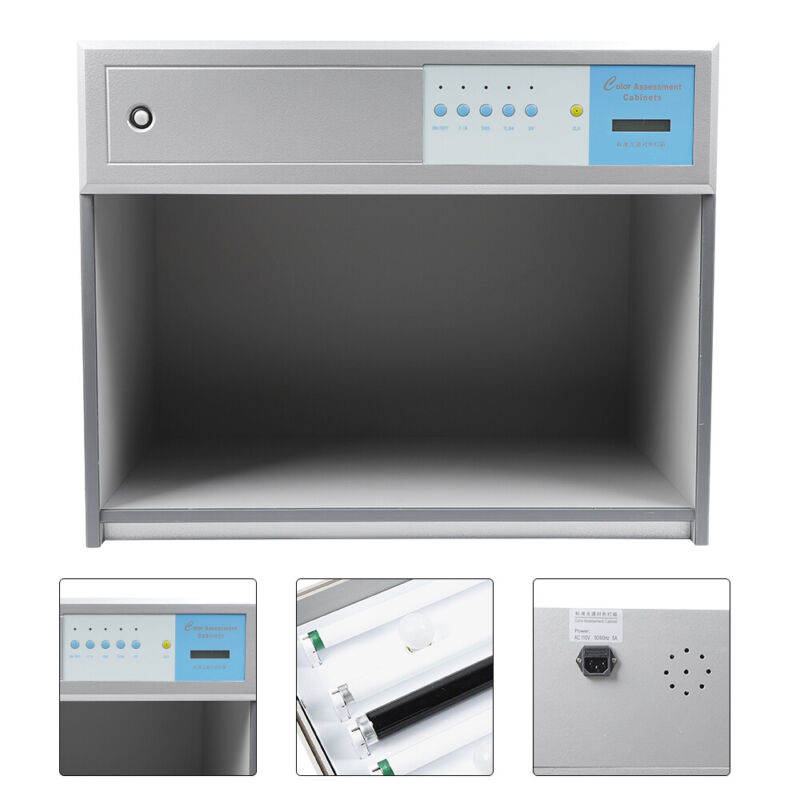 4 Color Assessment Cabinet,Light Booth for Matching,Lab Color Matching Light Box
