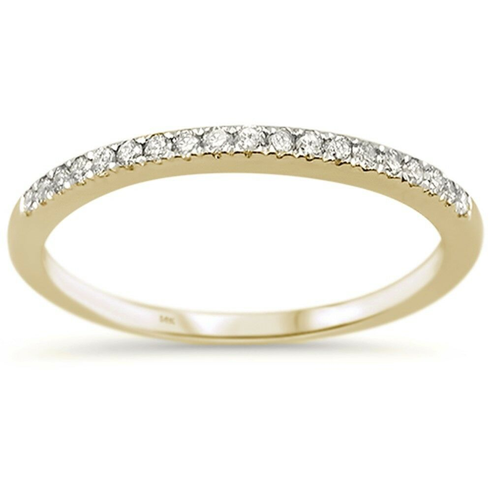 Stackable Wedding Bands.Details About 15ct G Si 14k Yellow Gold Diamond Accent Stackable Wedding Band Ring Size 6 5