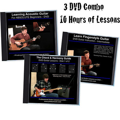 Learn How to Play Guitar 3 DVD Lessons Set BEST SET FOR BEGINNER