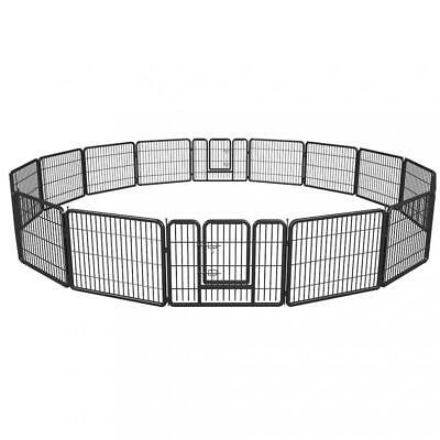 Animal Pet Dog Exercise Pen - Puppy Pet Playpen 16 Panel Extra Large Metal Protable Animal Exercise Dog Fence
