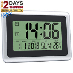 Large Digital Wall Clocks, Decorative,LCD Desk, Alarm Clock & Temperature