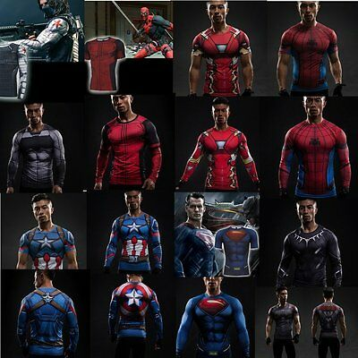 Men Marvel Superhero Comics Jersey Top Outdoor Sport T-Shirt Cycling Jersey