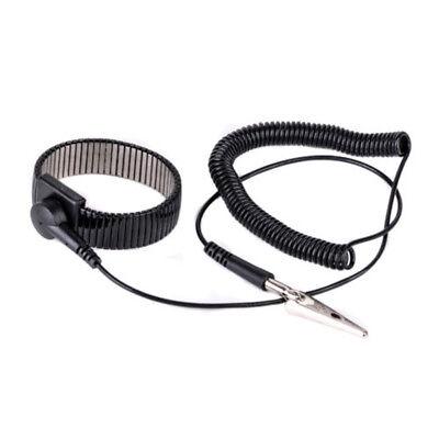 New Anti-static Esd Adjustable Strap Grounding Bracelet Black Wrist Band Np5