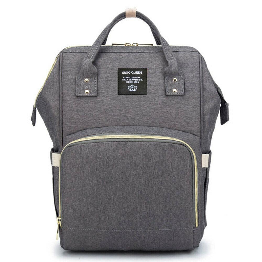 Ergo Diaper Bag Backpack Mummy Maternity Nappy Large Capacity Baby Bag Travel  Dark Gray