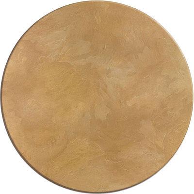 Werzalit Tischplatte 80 cm rund Sandstein wetterfest Ersatztischplatte Bistro077